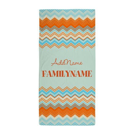 personalized name chevron pattern beach towel by customgifts123. Black Bedroom Furniture Sets. Home Design Ideas