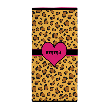 Leopard Personalized Towel