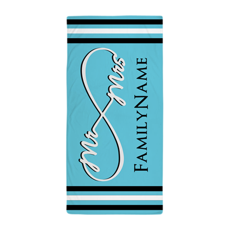 mr and mrs infinity beach towel by customgifts123. Black Bedroom Furniture Sets. Home Design Ideas