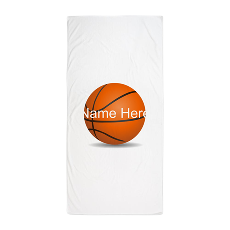 Personalized Basketball Ball Beach Towel
