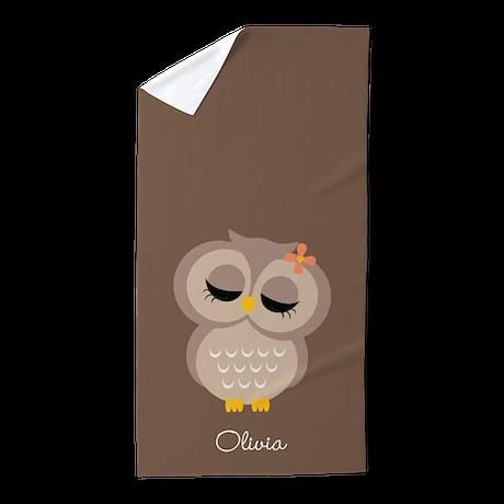 Single Owl Beach Towel