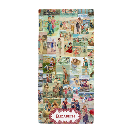 Victorian Personalized Beach Towel