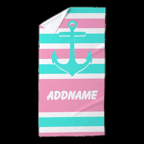 Anchor Monogram Stripe Beach Towel