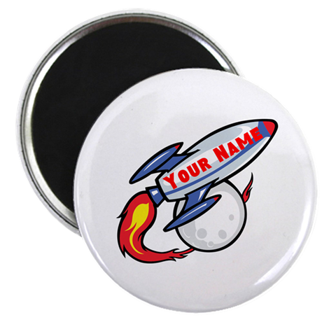 """Personalized rocket 2.25"""" Magnet (100 pack)"""