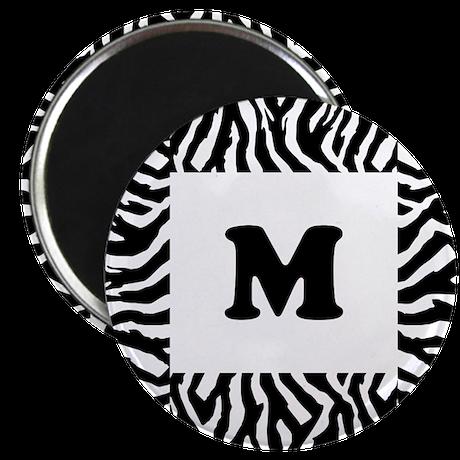 """Zebra Print. Custom Letter. 2.25"""" Magnet (100 pack"""