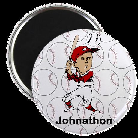 "Personalized cute cartoon bas 2.25"" Magnet (100 pa"