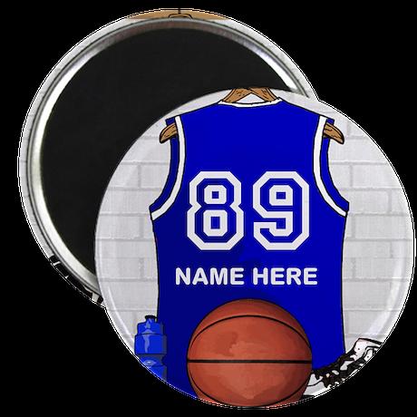 """Personalized Basketball Jerse 2.25"""" Magnet (100 pa"""