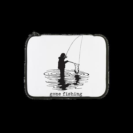 """Personalized Gone Fishing 13"""" Laptop Sleeve"""