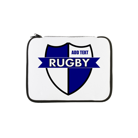 """Rugby Shield White Blue 13"""" Laptop Sleeve"""