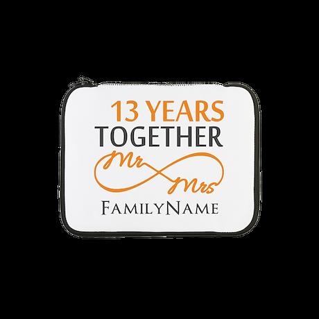 "13th anniversary wedding 13"" Laptop Sleeve"