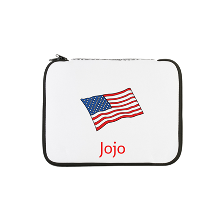 """Old Glory Personalized July 4 13"""" Laptop Slee"""