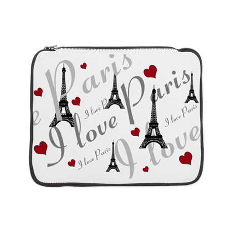 "Trendy I LOVE PARIS 15"" Laptop Sleeve"