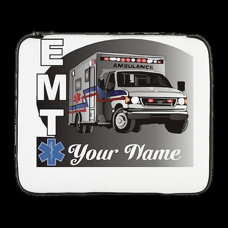 "Custom Personalized EMT 17"" Laptop Sleeve"