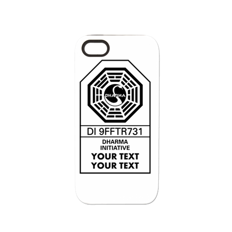 Custom dharma label iphone 5 5s tough case by nskiny for Iphone 5 sticker template