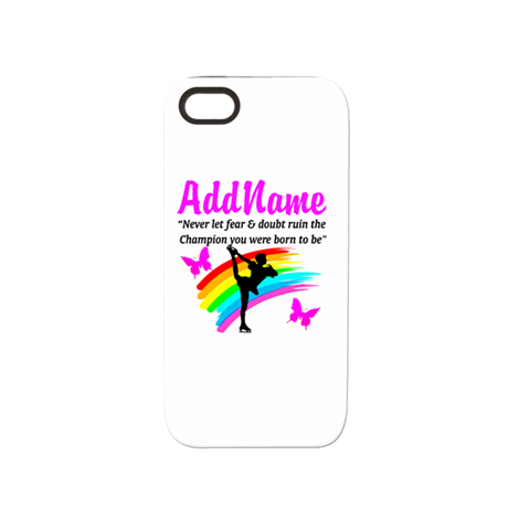 ICE SKATER QUOTE iPhone 5/5S Tough Case