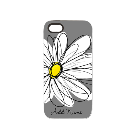 Whimsical Daisy - Gray iPhone 5 Tough Case
