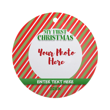 First Christmas Personalizable Ornament