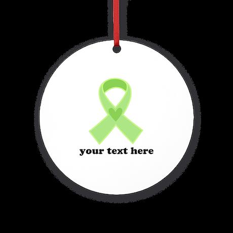 Personalized Celiac Disease Ribbon Ornament (Round