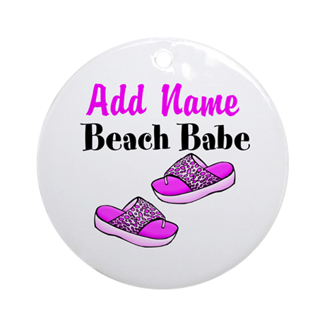 BEACH BABE Ornament (Round)
