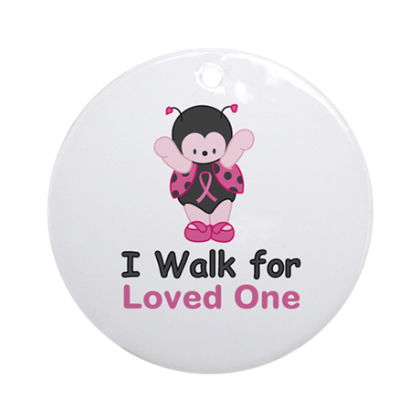 Walk For Ladybug Ornament (Round)