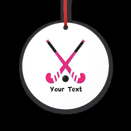 Personalized Field Hockey Ornament (Round)