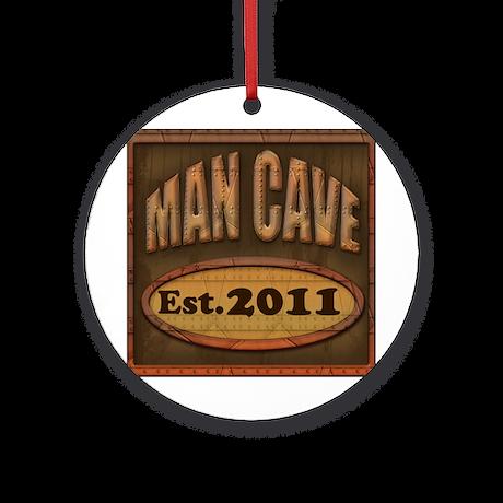 Man Cave Ornament (Round)