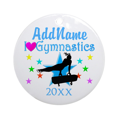 AMAZING GYMNAST Ornament (Round)