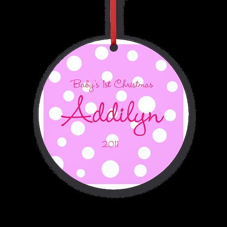 Baby's Girls 1st Christmas Ornament