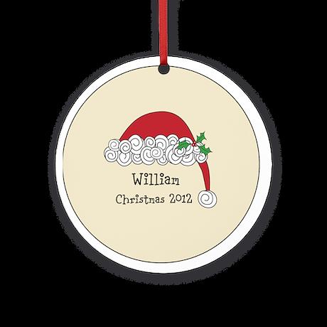 Personalized Santa Cap Ornament