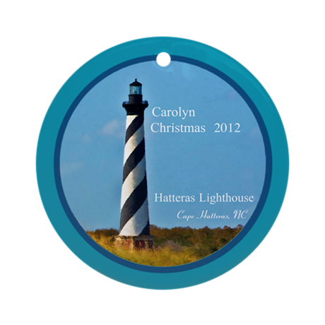 Cape Hatteras Lighthouse Personalized Ornament
