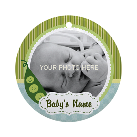 Personalized Pea Pod Baby Ornament