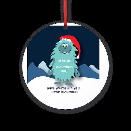 Personalized Yeti Christmas Ornament