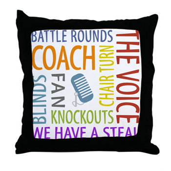 the voice toss pillow