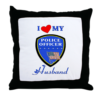 Police Husband Throw Pillow