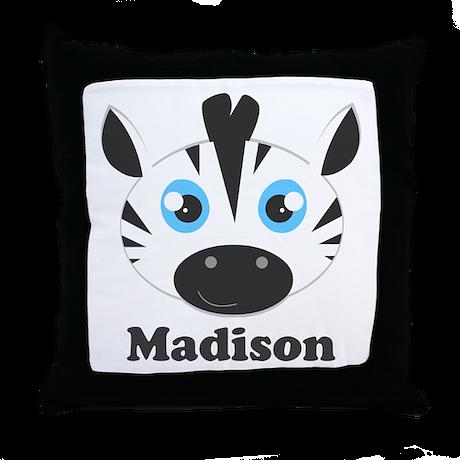Cute Zebra Pillow : Custom Name Cute Zebra Throw Pillow by cutetoboot