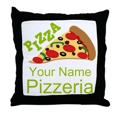 Customized Throw Pillows In Lagos : Personalized Pizzeria Throw Pillow by PersonalizedShirtsandStuff