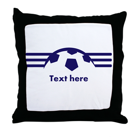 Custom Soccer Design Throw Pillow by CustomSoccerDesign