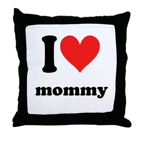 I Heart Mommy Throw Pillow
