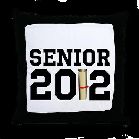 Senior 2012 (Diploma) Throw Pillow