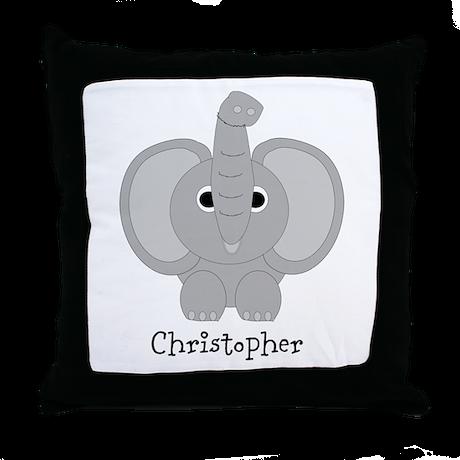 Personalized Elephant Design Throw Pillow