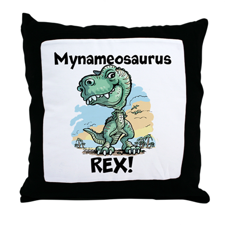 Personalizable Rex Throw Pillow
