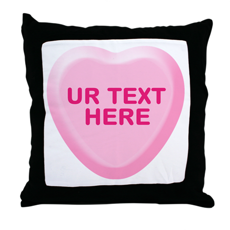 Banana Candy Heart Personalized Throw Pillow