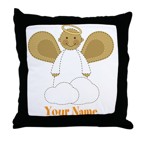 Personalized Christmas Angel Throw Pillow