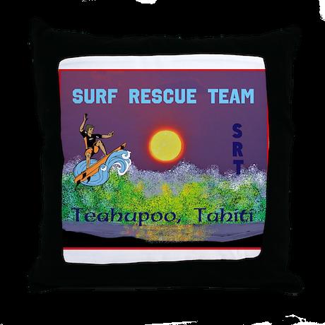 Teahupoo Tahiti Surf Rescue Team Throw Pillow