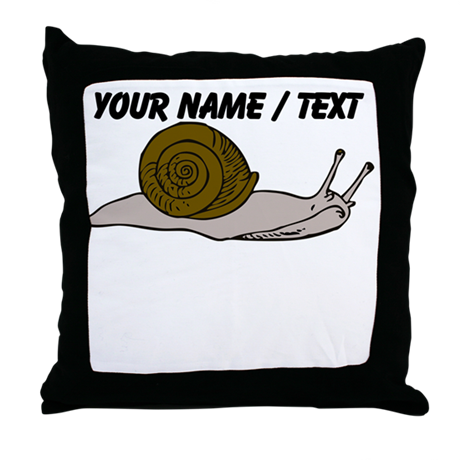 Custom Snail Throw Pillow