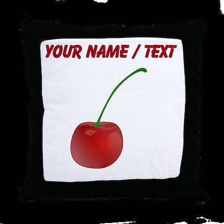 Custom Cherry Throw Pillow