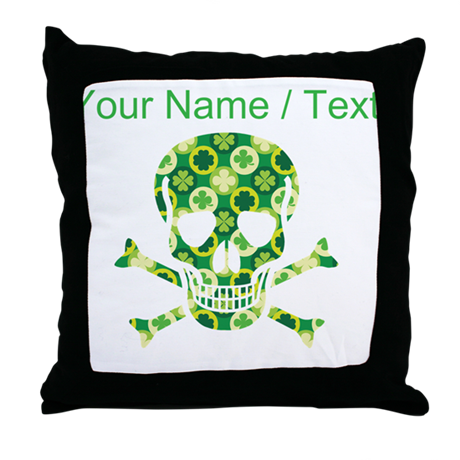Custom Irish Pirate Skull And Crossbones Throw Pil