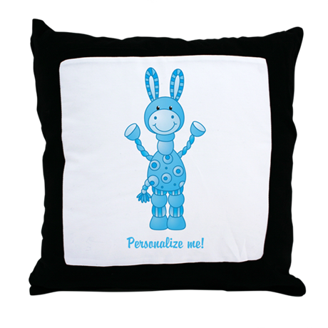 Personalize me! Blue Donkey Throw Pillow