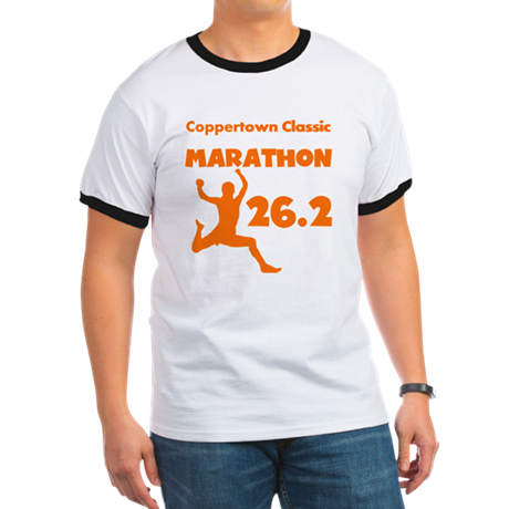 Orange Custom Marathon Ringer T