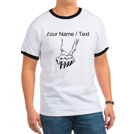 Custom Grizzly Bear Paw T-Shirt